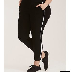 Torrid black and white striped jogger pants